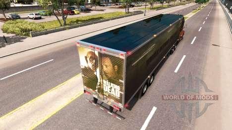 La piel Walking Dead en el remolque para American Truck Simulator