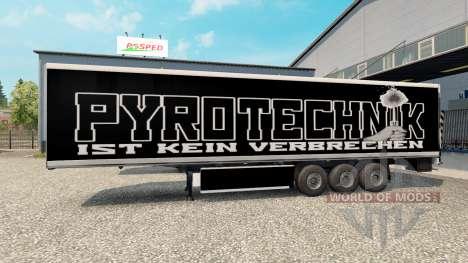 La piel de Pirotecnia en el remolque para Euro Truck Simulator 2
