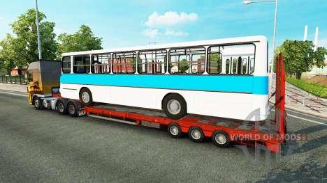 Bajo el barrido con el autobús Ikarus 260 para Euro Truck Simulator 2