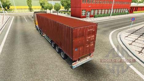 El semirremolque-contenedor de camión para Euro Truck Simulator 2