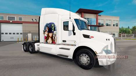 Gangster Chica de piel para el camión Peterbilt para American Truck Simulator