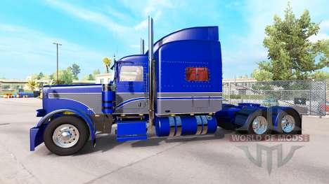 La piel Azul-gris en el camión Peterbilt 389 para American Truck Simulator