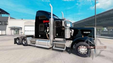 La piel de Elvira en el camión Kenworth W900 para American Truck Simulator