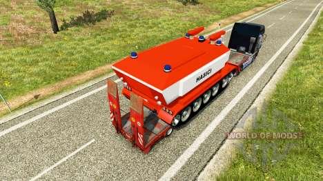 Baja de barrido con el fuego del tanque para Euro Truck Simulator 2