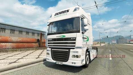 La piel en Dobbs Logística de camiones DAF para Euro Truck Simulator 2