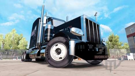 Pantera negra de piel para el camión Peterbilt 3 para American Truck Simulator