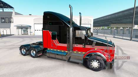 La piel Rayas v3.0 tractor Kenworth T800 para American Truck Simulator