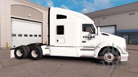 La piel en empresas Polar camión Kenworth para American Truck Simulator