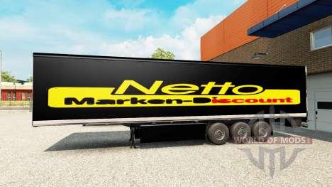 La piel Netto en el remolque para Euro Truck Simulator 2