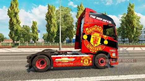 El Manchester United de la piel para camiones Vo para Euro Truck Simulator 2