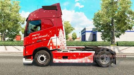 Feliz Navidad piel para camiones Volvo para Euro Truck Simulator 2
