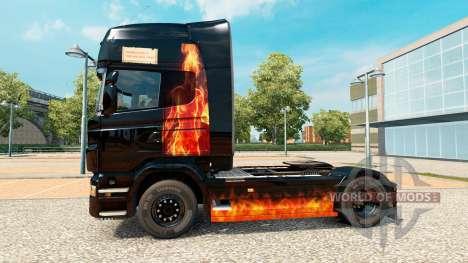 Quemazón de la piel de la mujer en el tractor Sc para Euro Truck Simulator 2