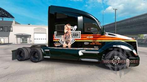 La piel de Harley-Davidson en un Kenworth tracto para American Truck Simulator