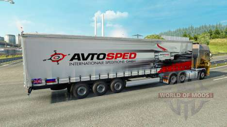 La piel Avtosped en el remolque para Euro Truck Simulator 2