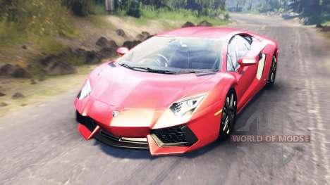 Lamborghini Aventador para Spin Tires