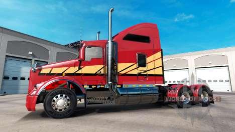 La piel Rayas v2.0 tractor Kenworth T800 para American Truck Simulator