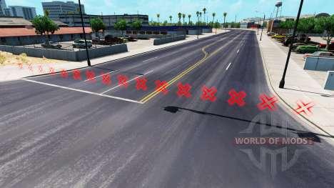 Rojo barreras para American Truck Simulator