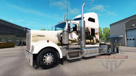 La piel de los Caballeros en el camión Kenworth  para American Truck Simulator
