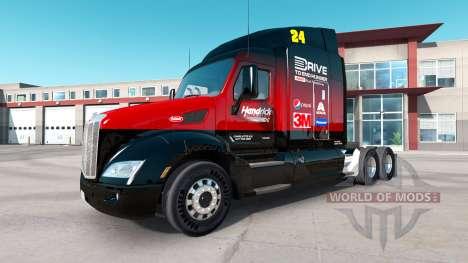 Hendrick de la piel para el camión Peterbilt para American Truck Simulator