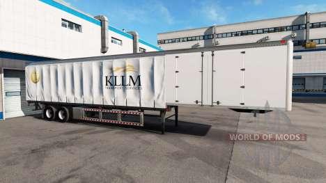 Una colección de skins para remolques v3.0 para American Truck Simulator