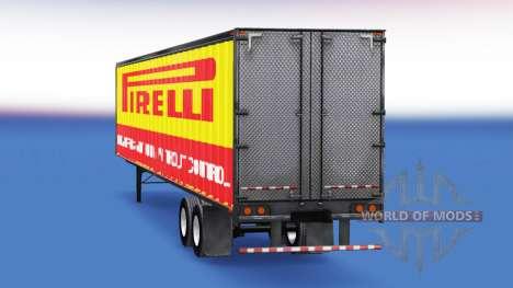 De metal semi-Pirelli para American Truck Simulator