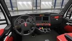 Interior rojo Kenworth T680