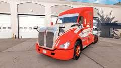 La piel de la Raya Roja en el camión Kenworth