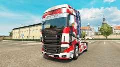 La piel de estados UNIDOS en el tractor Scania R