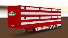 Semi-remolque del camión de animales