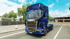 Espacio fresco de la piel para el camión Scania