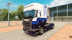 La piel Azul V8 de Scania truck