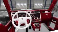 El rojo y blanco, interior Kenworth W900