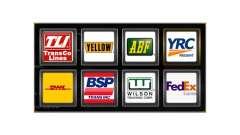 Los logotipos de las empresas de transporte de E