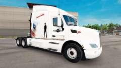 Diesel Vaquero de piel para el camión Peterbilt