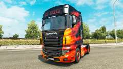 La piel de Fuego Frío camión Scania R700