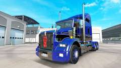 La piel Azul-negro en el camión Kenworth T800