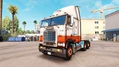 La piel de la USF en camión Freightliner FLB