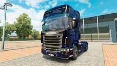 La piel de Humo Azul en el tractor Scania