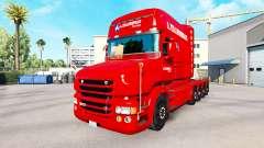 A. Krabbendam de la piel para camión Scania T