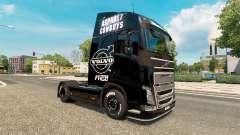 El asfalto de los Vaqueros de piel para camiones