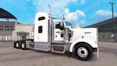 La piel en empresas Polar camión Kenworth W900