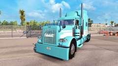 La piel Azul-Blanco para el camión Peterbilt 389