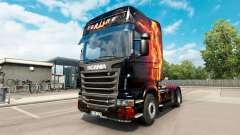 El fuego de Niña de piel para Scania camión