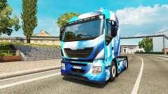 La piel Azul Abstracto Iveco para el camión