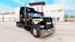 La piel de Plata-negro para el camión Peterbilt