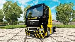 La Potencia del V8 de piel para HOMBRE camión