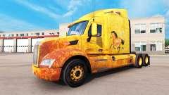 Occidental de la piel para el camión Peterbilt