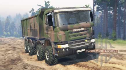 Scania Timber 8x8 para Spin Tires