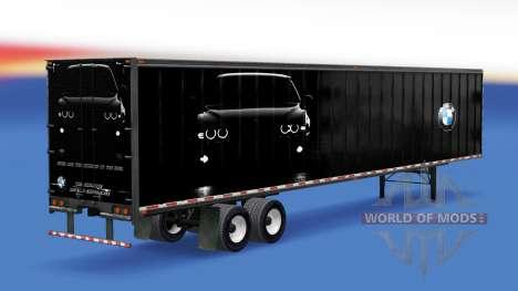 All-metal semitrailer BMW para American Truck Simulator