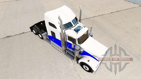 Ola azul de la piel para el Kenworth W900 tracto para American Truck Simulator